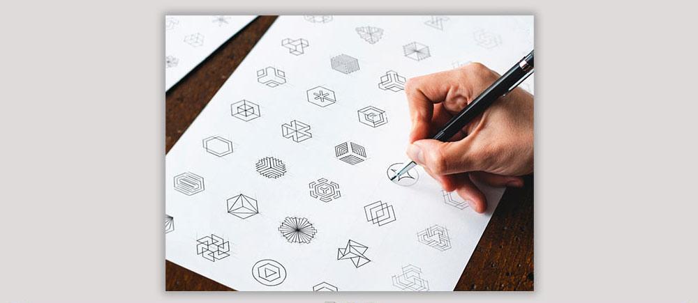 اتود زدن در طراحی لوگو